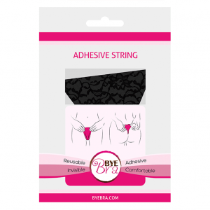 ADHESIVE STRING LACE FINISH BLACK ONE SIZE