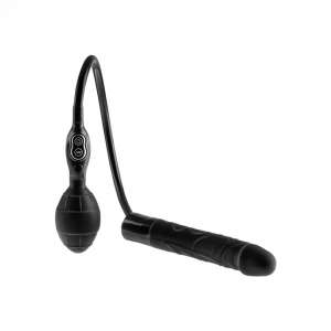 SIMPLY PLEASURE INFLATABLE VIBRATOR BLACK 20 CM