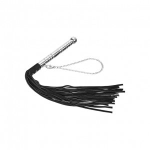 LEATHER FLOGGER ALU HANDLE - SUEDE STRINGS