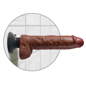 King Cock 25 cm Vibrating Cock With Balls Brown6