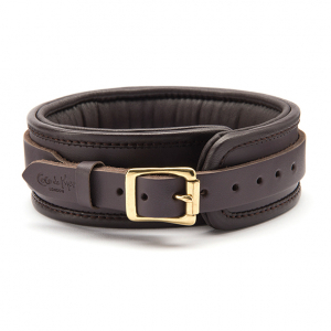 Coco de Mer - Leather Collar Brown1