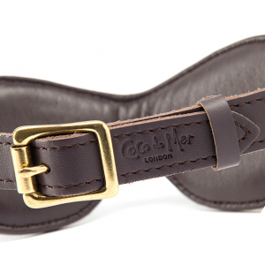 Coco de Mer - Leather Blindfold Brown1