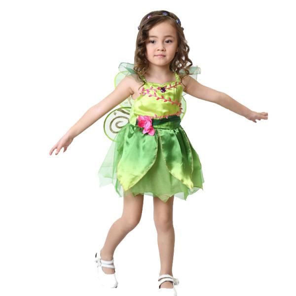 Costum carnaval Zana Clopotica, Tinkerbell, pentru copii, S, 110-120 CM, 4 - 6 ani 0