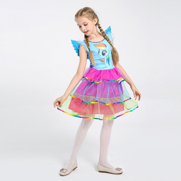 Costum Rainbow Dash,  My Little Pony, copii, marime S, 110 cm 4