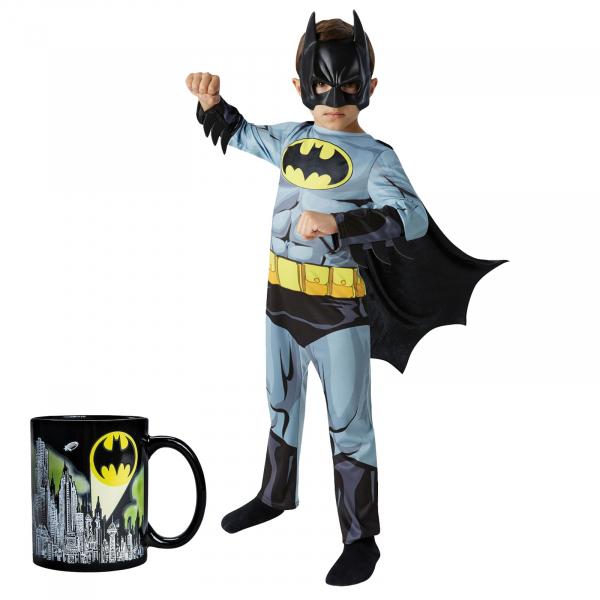 Set costum clasic  Batman, DC  Comics  pentru copii si cana termosensibila  Batman, M, 5 - 6 ani 0