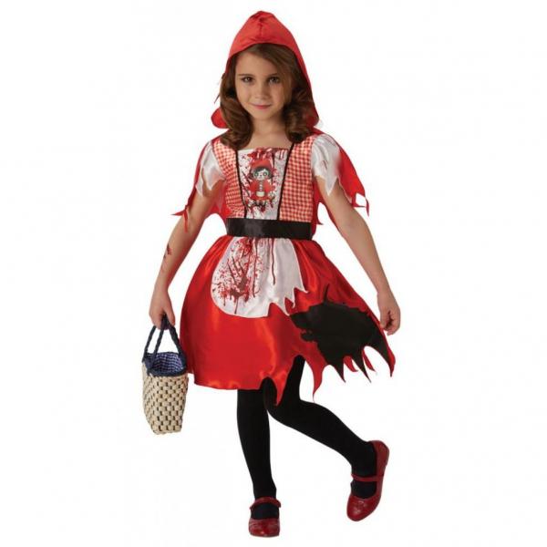 Costum de carnaval copii, Scufita Rosie, 4 - 6 ani 0