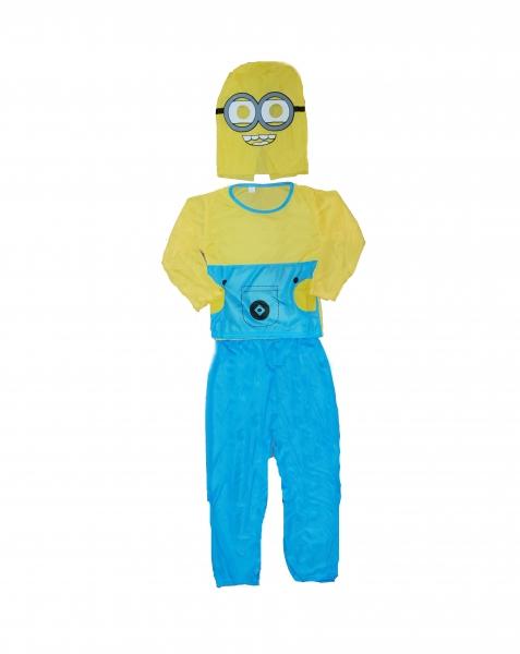 Costum carnaval Minion pentru copii, L, 120-130 cm 2