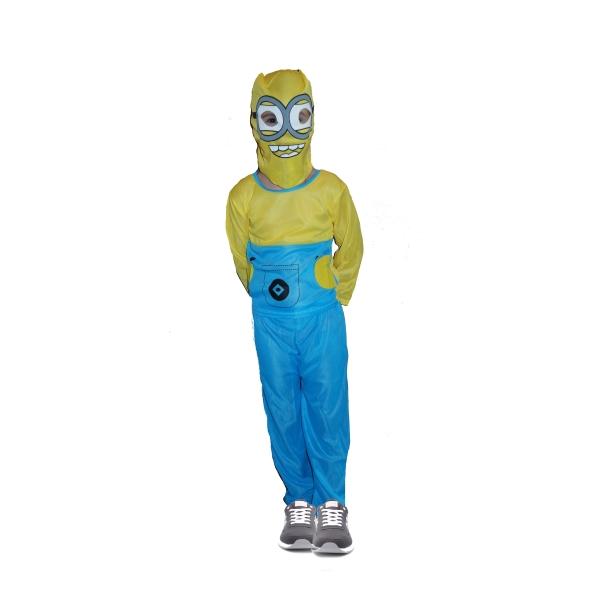 Costum carnaval Minion pentru copii, M, 110-120 cm,  5 - 7 ani 1