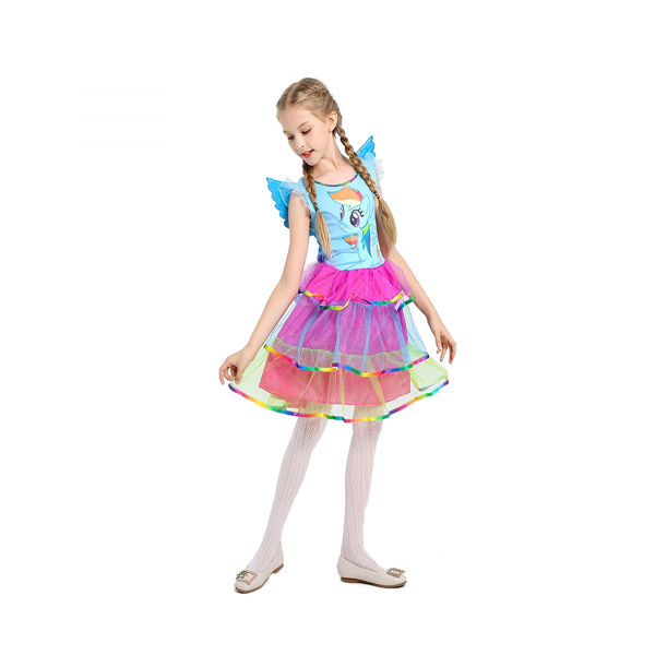 Costum Rainbow Dash,  My Little Pony, copii, marime S, 110 cm 0