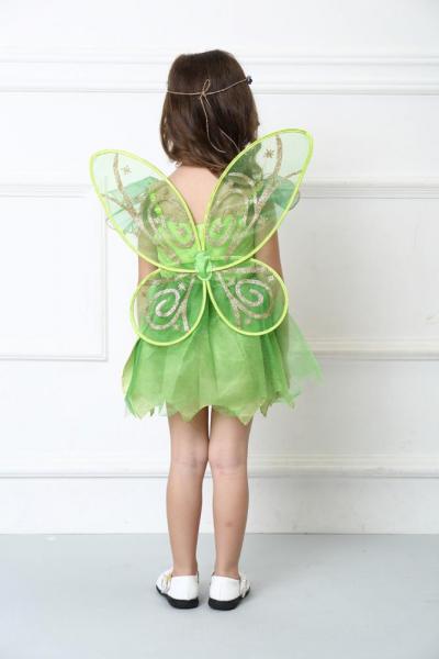 Costum carnaval Zana Clopotica, Tinkerbell, pentru copii, S, 110-120 CM, 4 - 6 ani 1