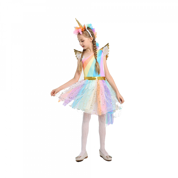 Costum Unicorn, Rochita bal unicorn, marimea M, 120 cm 0