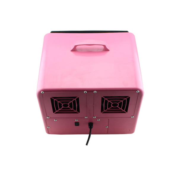 Masina de facut baloane, 100w, capacitate 2.5L, roz, cu telecomanda, lichid cadou 5