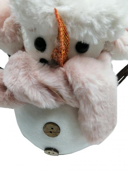 Figurina om de zapada, caciula si fular, 21 cm 4