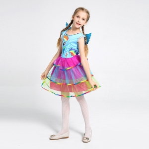 Costum Rainbow Dash,  My Little Pony, copii, marime S, 110 cm3