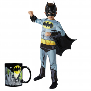 Set costum clasic  Batman, DC  Comics  pentru copii si cana termosensibila  Batman, M, 5 - 6 ani0