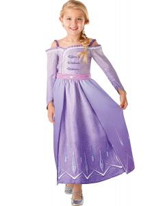 Set costum Disney Printesa Elsa, Regatul de gheață 2, Frozen 2, marime S, 3 - 4 ani si sandalute din cauciuc1
