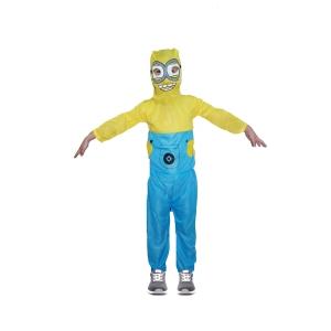 Costum carnaval Minion pentru copii, M, 110-120 cm,  5 - 7 ani0