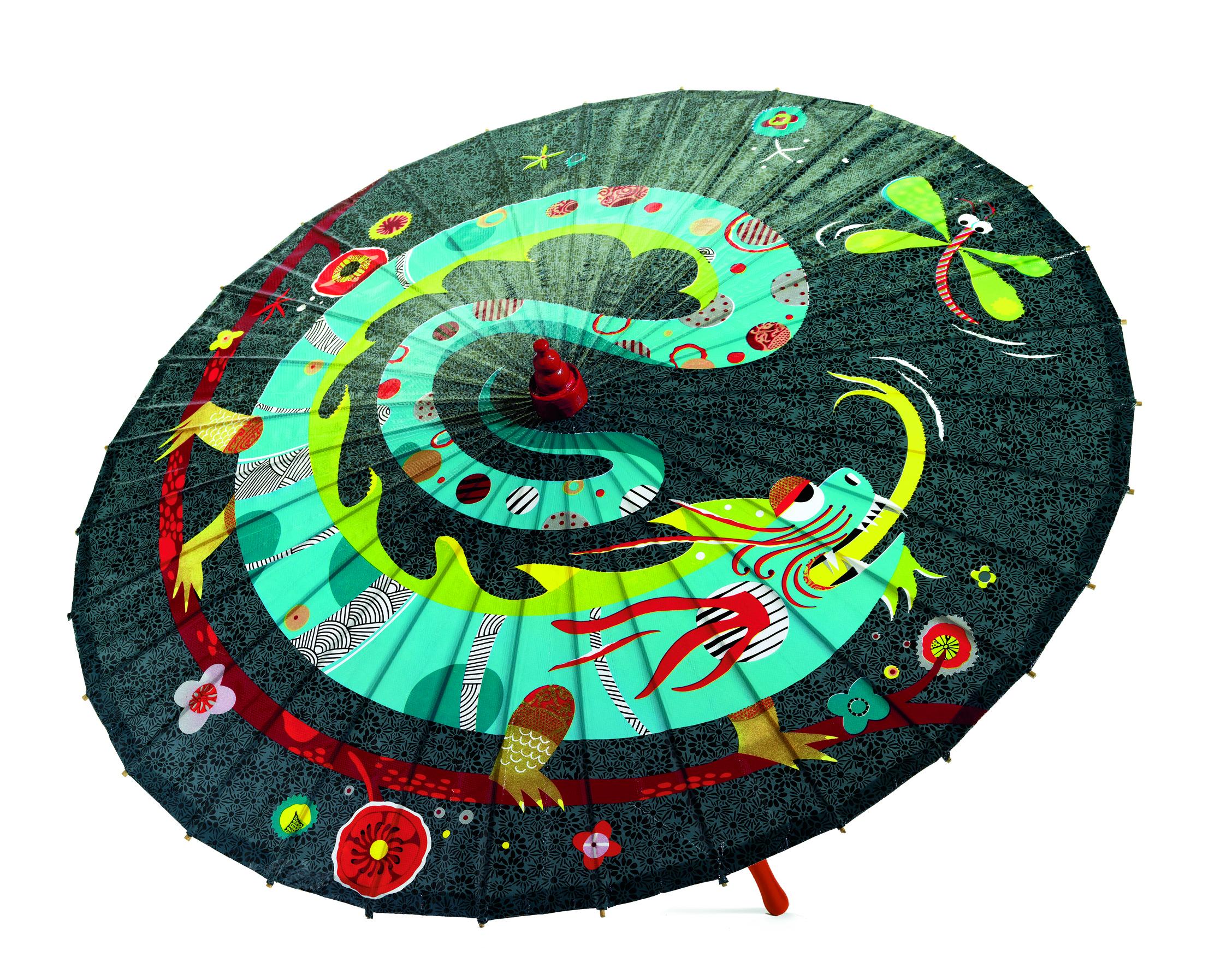 Umbrelă pentru copii dragonul și libelula Djeco  [0]