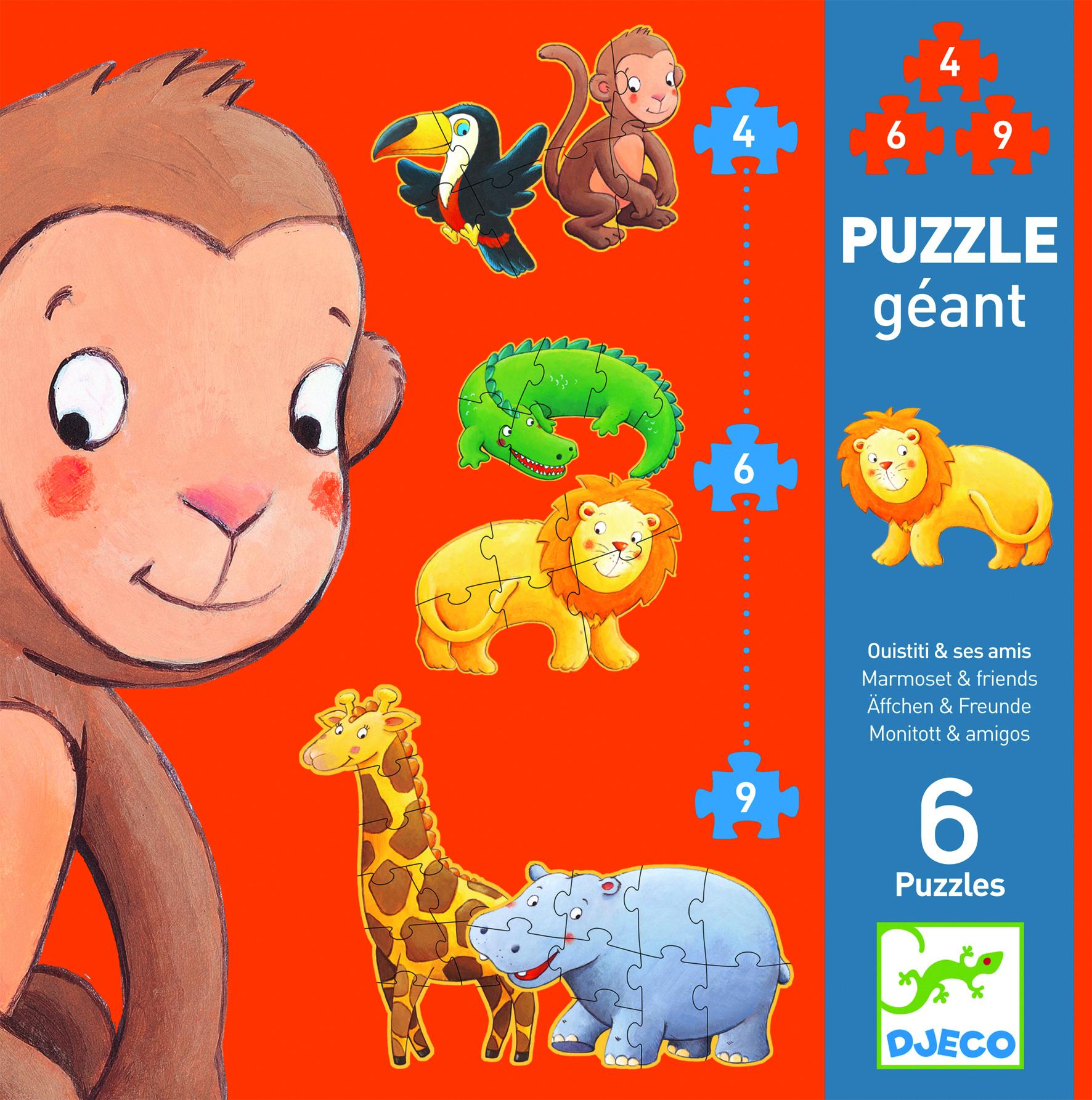 Puzzle gigant Djeco animale sălbatice [0]