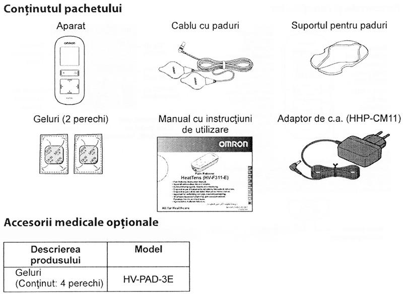 Electrostimulator-muscular-Omron-HeatTens-TENS-continut