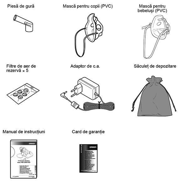 componente-piese-nebulizator-OMRON-CompAIR-C801-KD-pentru-copii