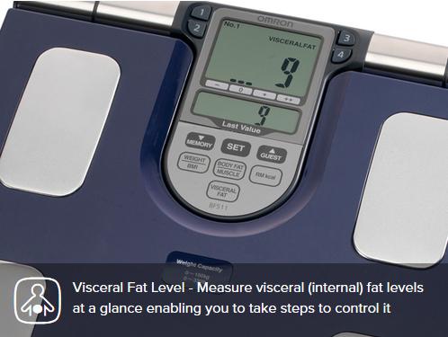 analizor-corporal-Cantar-electronic-OMRON-BF511-indicator-grasime-viscerala