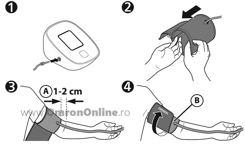 tensiometru-digital-brat-OMRON-M2-basic-aplicarea-mansonului