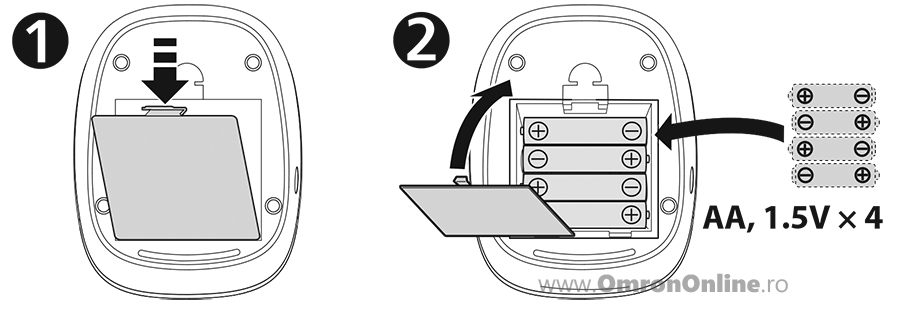 tensiometru-digital-brat-OMRON-M2-basic-instalarea-bateriilor