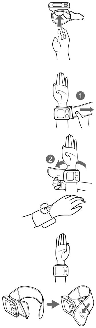 Tensiometru-digital-de-incheietura-OMRON-RS6-pozitie-masurare-tensiune
