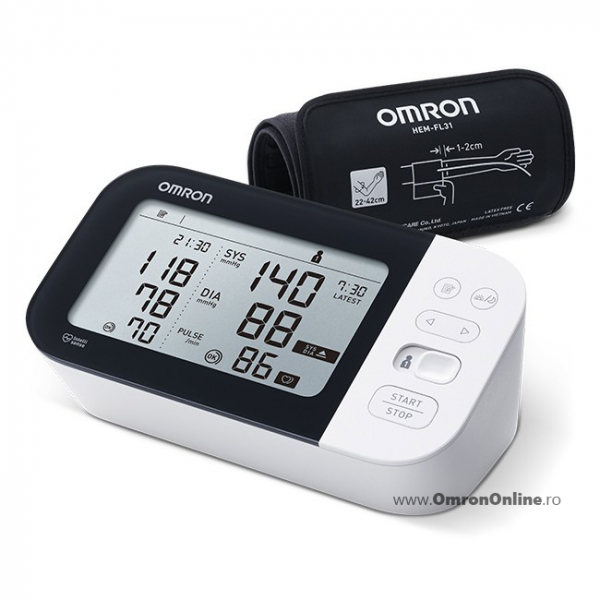 OMRON M7 Intelli IT (HEM-7361T-EBK) - Tensiometru de brat, detectare fibrilatie atriala (Afib), manseta inteligenta Intelli Cuff, transfer date Omron Connect, garantie 3 ani [3]