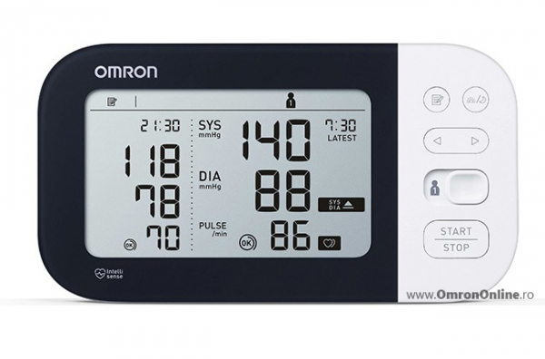 OMRON M7 Intelli IT (HEM-7361T-EBK) - Tensiometru de brat, detectare fibrilatie atriala (Afib), manseta inteligenta Intelli Cuff, transfer date Omron Connect, garantie 3 ani [1]