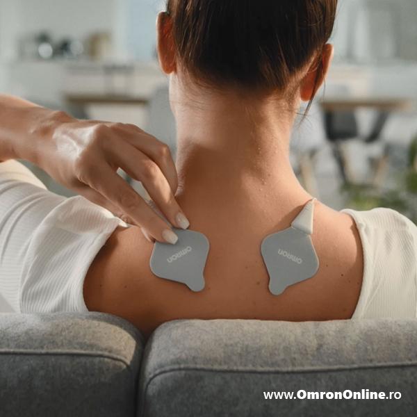 Electrostimulator muscular Omron HeatTens, TENS + HEAT (terapie prin caldura), baterie reincarcabila, 3 ani garantie, pentru ameliorarea durerii articulare si musculare [5]