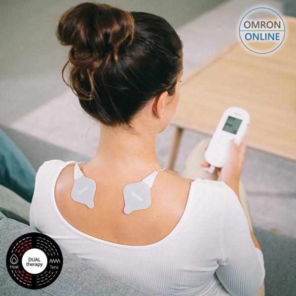 Electrostimulator muscular Omron HeatTens, TENS + HEAT (terapie prin caldura), baterie reincarcabila, 3 ani garantie, pentru ameliorarea durerii articulare si musculare [0]