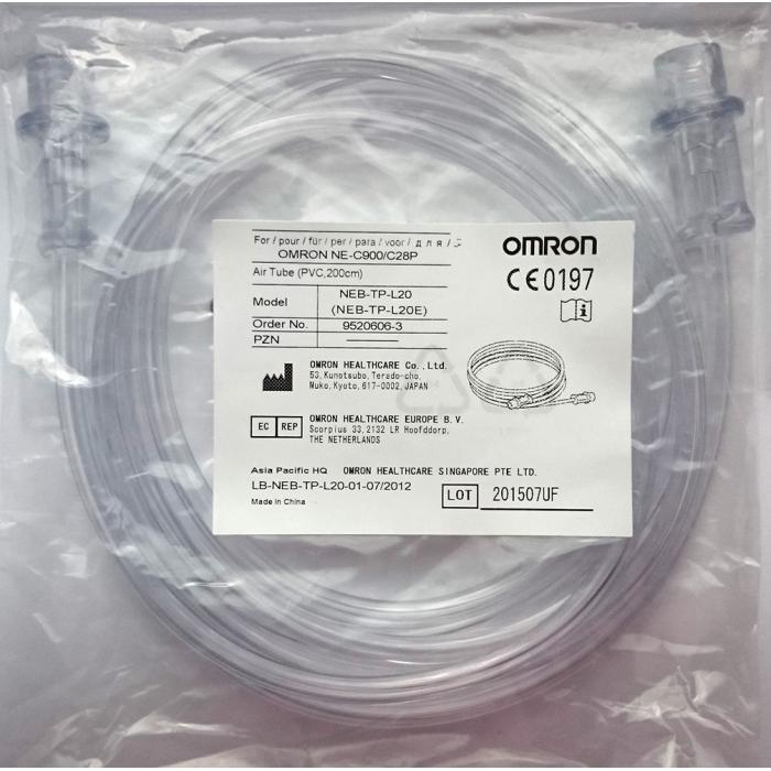Furtun aer din PVC pentru nebulizatoare OMRON CompAir - C28P si C900, compatibil cu C28E - Lungime 2 m [0]
