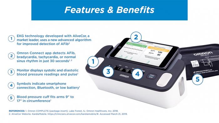 Omron Complete - Tensiometru automat pentru brat + ECG, validat clinic, functie AFIB, fabricat in Japonia [4]