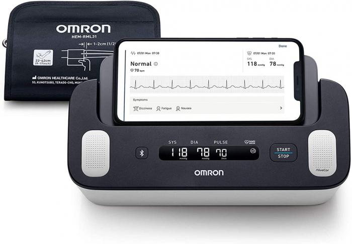 Omron Complete - Tensiometru automat pentru brat + ECG, validat clinic, functie AFIB, fabricat in Japonia [2]
