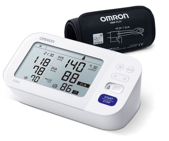 OMRON M6 Comfort (HEM-7360-E) - Tensiometru de brat, detectare fibrilatie atriala (Afib), manseta inteligenta Intelli Cuff, garantie 3 ani [1]