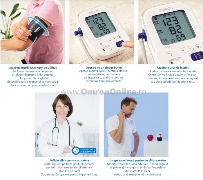 OMRON X3 Comfort (HEM-7155-EO) - Tensiometru de brat, manseta inteligenta Intelli Cuff, validat clinic, garantie 3 ani [2]