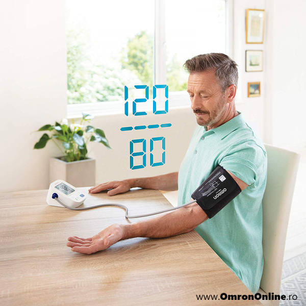 OMRON M3 Comfort (HEM-7155-E) - Tensiometru de brat, manseta inteligenta Intelli Cuff, validat clinic, garantie 3 ani [1]