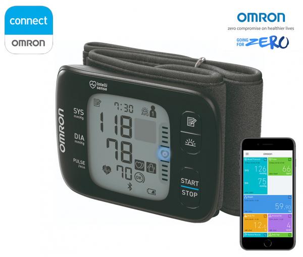 OMRON RS7 Intelli IT - Tensiometru de incheietura, silentios, transfer date Bluetooth, validat clinic [0]