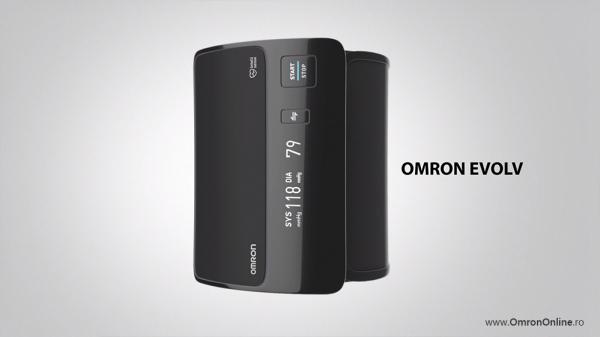 Tensiometru Omron EVOLV digital de brat, manseta inteligenta 22-42 cm, transfer date Bluetooth, fara cabluri, validat clinic, ecran OLED, fabricat in Japonia [13]