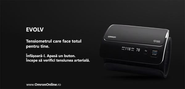 Tensiometru Omron EVOLV digital de brat, manseta inteligenta 22-42 cm, transfer date Bluetooth, fara cabluri, validat clinic, ecran OLED, fabricat in Japonia [6]