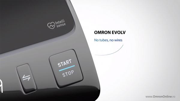 Tensiometru Omron EVOLV digital de brat, manseta inteligenta 22-42 cm, transfer date Bluetooth, fara cabluri, validat clinic, ecran OLED, fabricat in Japonia [11]