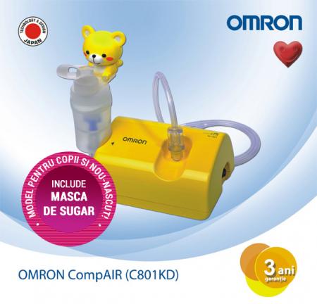 Aparat aerosoli cu compresor pentru copii OMRON CompAIR C801 KiD, cu masca de sugar inclusa [0]