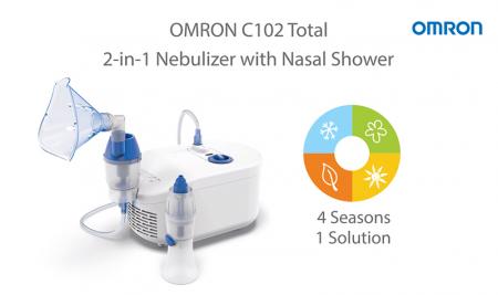 Nebulizator cu compresor Omron C102 Total + irigator nazal, utilizare continua, fabricat in Italia [6]