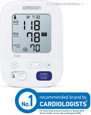 OMRON M3 Comfort (HEM-7155-E) - Tensiometru de brat, manseta inteligenta Intelli Cuff, validat clinic, garantie 3 ani [3]