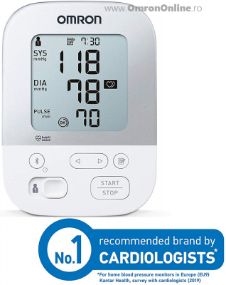 OMRON X4 Smart - Tensiometru de brat, manseta inteligenta Intelli Cuff, transfer date Omron Connect, validat clinic, garantie 3 ani [3]