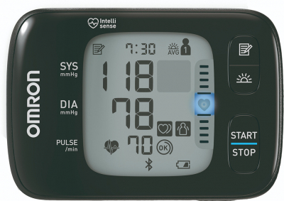OMRON RS7 Intelli IT - Tensiometru de incheietura, silentios, transfer date Bluetooth, validat clinic [1]