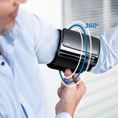 Tensiometru Omron EVOLV digital de brat, manseta inteligenta 22-42 cm, transfer date Bluetooth, fara cabluri, validat clinic, ecran OLED, fabricat in Japonia [4]