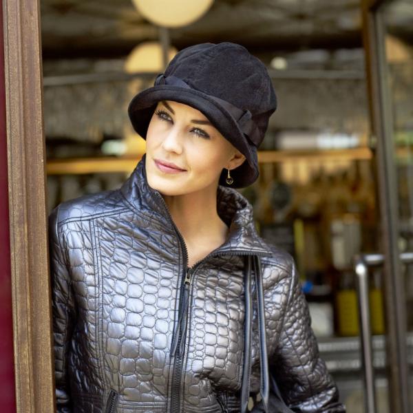 Gelu Palarie velur, negru, Christine Headwear 0